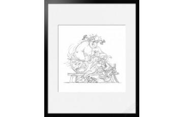Digigraphie sur papier d'art 'Astérix, Fou rire' - Albert Uderzo