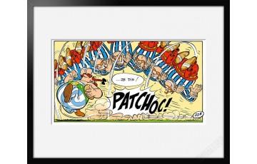 Digigraphie sur papier d'art 'Astérix, Patchoc!' - Albert Uderzo