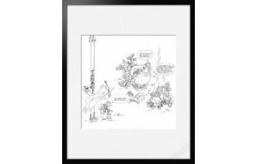 Digigraphie sur papier d'art 'Astérix, La potion magique' - Albert Uderzo