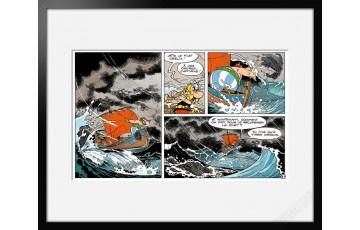 Digigraphie sur papier d'art 'Astérix, Tempête' - Albert Uderzo