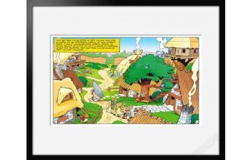 Digigraphie sur papier d'art 'Astérix, Village des irréductibles' - Albert Uderzo