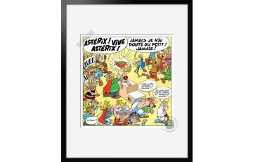Digigraphie sur papier d'art 'Astérix, Vive Astérix' - Albert Uderzo