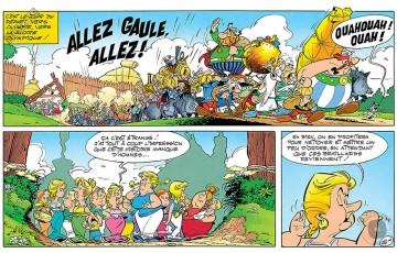 Toile 'Astérix, Allez Gaule' - Albert Uderzo