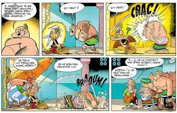 Toile 'Astérix, Ça vient' - Albert Uderzo