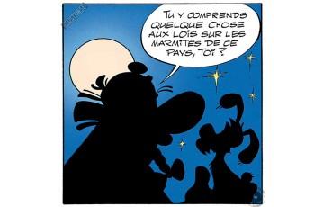 Toile 'Astérix, Les marmites' - Albert Uderzo