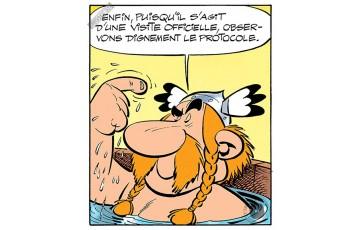Toile 'Astérix, Le protocole' - Albert Uderzo