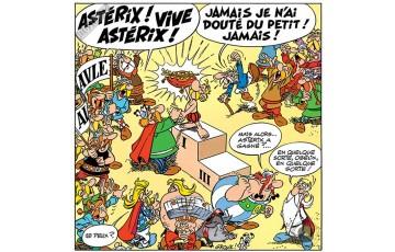 Toile 'Astérix, Vive Astérix' - Albert Uderzo