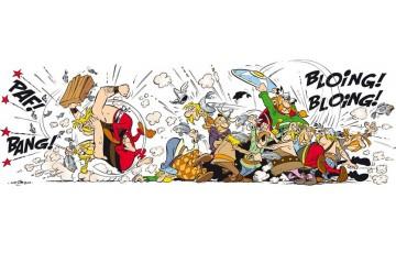 Digigraphie sur toile 'Astérix, La bagarre' - Albert Uderzo