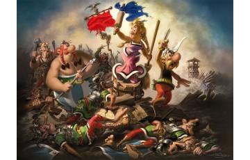 Digigraphie sur toile 'Astérix, Liberté' - Albert Uderzo