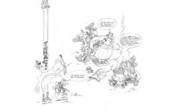 Digigraphie sur toile 'Astérix, La potion magique' - Albert Uderzo