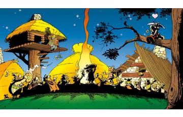 Toile 'Astérix, Banquet légionnaire' - Albert Uderzo