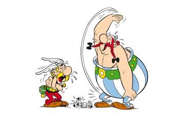 Toile 'Astérix, Mort de rire' - Albert Uderzo