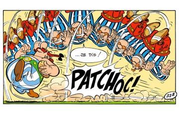Toile 'Astérix, Patchoc!' - Albert Uderzo