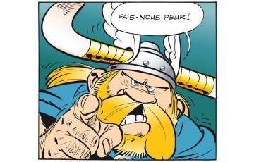 Toile 'Astérix, Fais nous peur' - Albert Uderzo