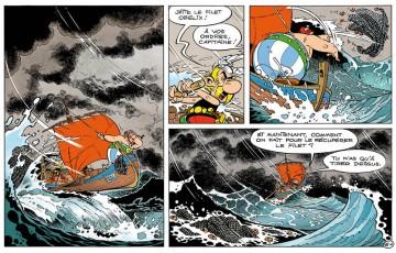Toile 'Astérix, Tempête' - Albert Uderzo
