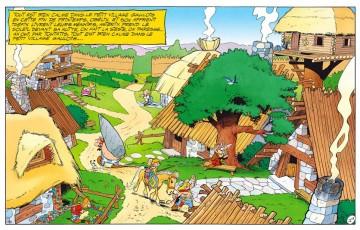 Toile 'Astérix, Village des irréductibles' - Albert Uderzo