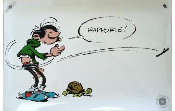 Plaque émaillée 'Gaston Lagaffe, Tortue' - Franquin