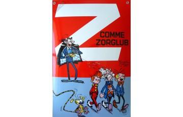 Plaque émaillée 'Spirou, Z comme Zorglub' - Franquin