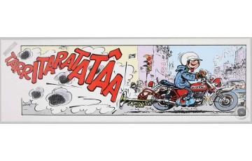 Toile 'Gaston Lagaffe, Tarritaratatâa' - André Franquin