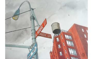 Affiche d'art N°/Signée 'N.Moore street' - André Juillard