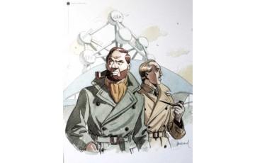 Affiche d'art 'Blake et Mortimer' - André Juillard