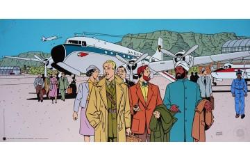 Affiche d'art N°/Signée 'Blake et Mortimer, Un vol sans histoire' - André Juillard