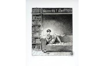 Estampe pigmentaire N°/Signée 'Le plaisir' - André Juillard