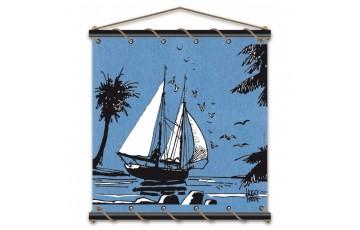 Sérigraphie sur toile 'Corto Maltese, Adieu bleu' - Hugo Pratt