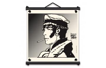 Toile sérigraphiée 'Corto Maltese, Allons-y' - Hugo Pratt