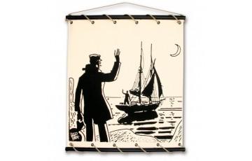 Toile sérigraphiée 'Corto Maltese, Bon vent' - Hugo Pratt