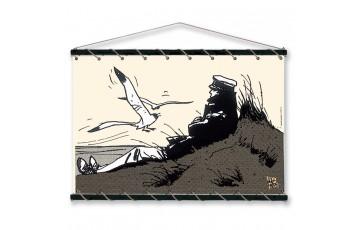 Sérigraphie sur toile 'Corto Maltese, Dune écru' - Hugo Pratt