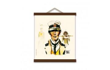 Sérigraphie sur toile 'Corto Maltese, Ethiopie' - Hugo Pratt