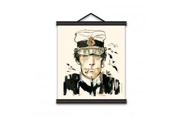 Sérigraphie sur toile 'Corto Maltese, La jeunesse' - Hugo Pratt