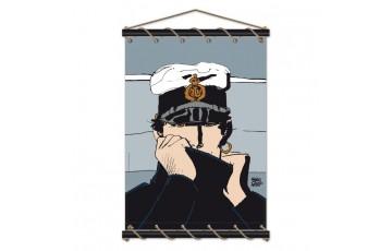 Toile sérigraphiée 'Corto Maltese, Marin gris' - Hugo Pratt