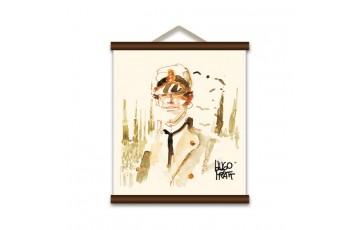 Sérigraphie sur toile 'Corto Maltese, Milano' - Hugo Pratt