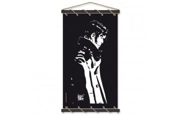 Sérigraphie sur toile 'Corto Maltese, Penseur noir' - Hugo Pratt