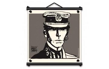 Toile sérigraphiée 'Corto Maltese, Portrait' - Hugo Pratt