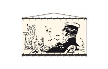 Sérigraphie sur toile 'Corto Maltese, Quai' - Hugo Pratt