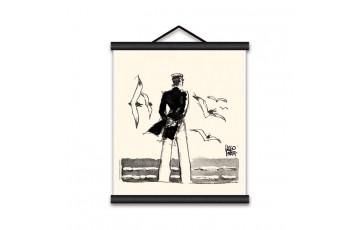 Sérigraphie sur toile 'Corto Maltese, Rendez-vous' - Hugo Pratt