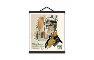 Sérigraphie sur toile 'Corto Maltese, Riachuelo' - Hugo Pratt