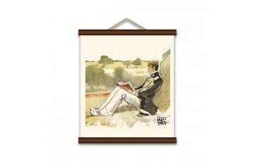 Sérigraphie sur toile 'Corto Maltese, Corto en Suisse' - Hugo Pratt