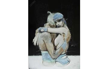 Affiche d'art 'Bleu sang, à part' - Enki Bilal