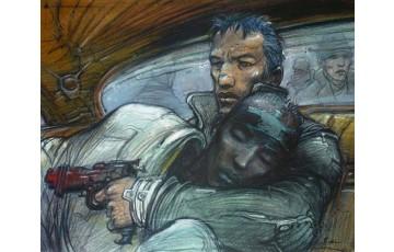 Affiche d'art 'J'ai rêvé du froid de Sarajevo' - Enki Bilal
