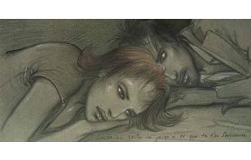 Affiche d'art 'Laisse moi rester ici' - Enki Bilal