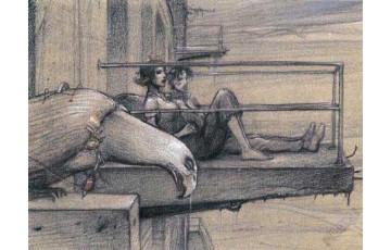 Affiche d'art 'Le balcon' - Enki Bilal