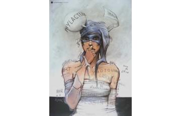 Affiche d'art 'La Bande dessinée' - Enki Bilal