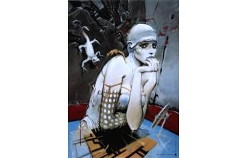 Affiche d'art 'Bleu sang IV' - Enki Bilal