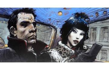 Affiche d'art N°/Signée 'L'interview' - Enki Bilal