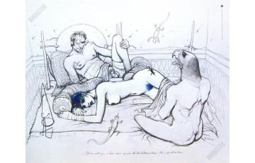 Affiche d'art 'Jill à beau rêver' - Enki Bilal