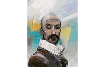 Affiche d'art 'Montaigne' - Enki Bilal